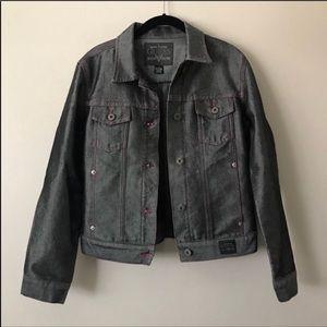 Guess Trucker gray/pink jean jacket